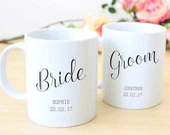 Personalised Newlyweds Mug Set