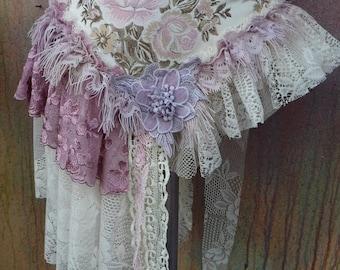 20%OFF bohemian bustle,boho belt,bohemian overskirt, gypsy overskirt, mori girl, burlesque, shabby skirt,womans clothing ...FREE SHIPPING