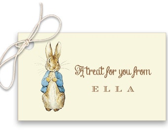 Peter Rabbit Birthday Favor Tags