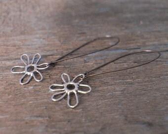 Artisan Sterling Flower Earrings