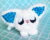 50% OFF Kawaii Soft And Fluffy Kitty Cat Doll / Handmade Furry White Kitten Amigurumi Plush Anime Manga Toy / Great For An Otaku
