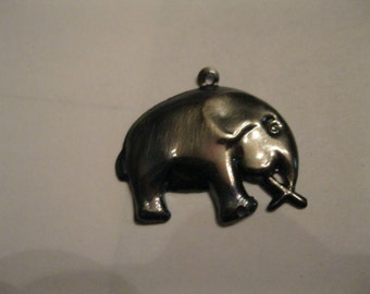 """Lucky Elephant Jewelry Charm 1"""" by 1"""" Cute Grey Metal Fun to Wear to Bring you Luck in 2017 For Necklace or Bracelet or Crafts Fun For All"""