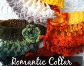 CROCHET PATTERN Romantic Choker Collar - crochet pattern,crochet collar,collar pattern, collar necklace, collar scarf, crochet necklace