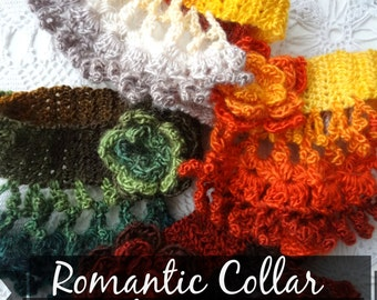 Romantic Choker Collar Crochet Pattern - crochet pattern,crochet collar,collar pattern, collar necklace, collar scarf, crochet necklace