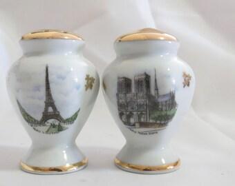 Vintage Limoge Souvenier Paris Salt and Pepper Shakers