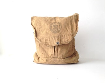 60s TAN brown canvas RUCKSACK backpack vintage boy scouts of america