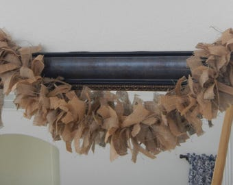 Burlap Garland, Mantle Swag, Home Decor, Photo Prop, Wedding, Party, Shower