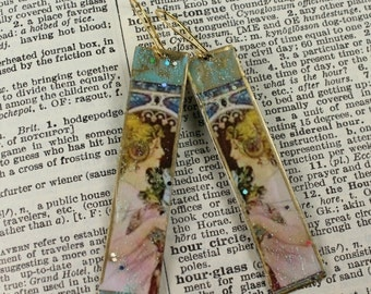 Alphonse Mucha Dangle Drop Handcrafted Famous Painter Earring Urban Gypsy Mucha Inspired