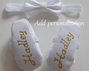 Personalization Add Personalization Personalized Baby Shoes Personalized Baptism Shoes Personalized Christening Shoes