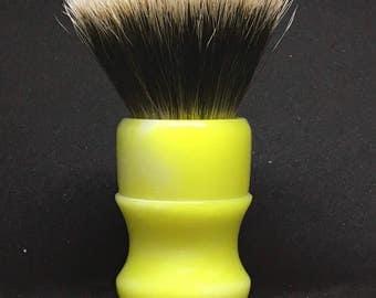 Handmade shaving brush With Premium High Mountain White badger hair