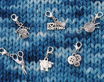 Knit Progress Keeper charms
