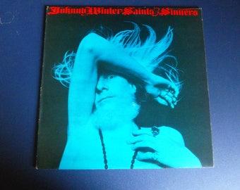 Johnny Winter Saints and Sinners Vinyl Record LP KC 32715 Columbia Records 1974