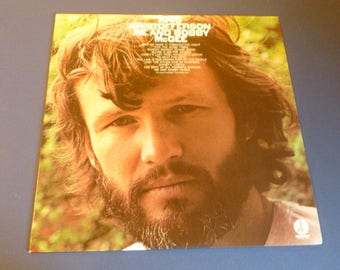 Kris Kristofferson Me And Bobby McGee Vinyl Record LP Z 30817 Monument Records 1974