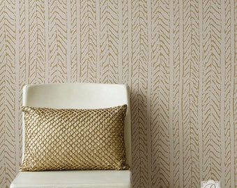 Funky Fibers Wall Stencil for DIY Wallpaper Look