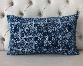 Vintage Indigo batik Hmong cushion cover, Cotton Fabric,Throw Pillow,Decorative Pillows,,lumbar cushion,
