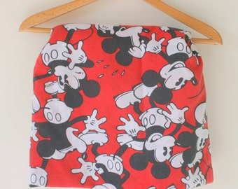 1980s MICKEY MOUSE Twin Flat...kids. children. urban. kids bedding. retro kids. unisex. cool mickey. mickeys club house. walt disney. goofy