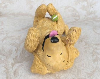 Golden Retriever hand scultped  rolling figurine #3