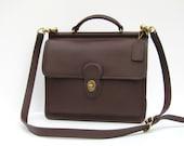 Vintage Coach // Brown Leather Willis Messenger Bag Satchel // Beautiful Condition