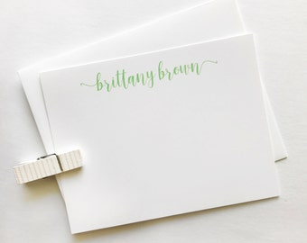 Script Name Personalized Notecards - Calligraphy