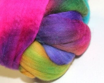 Merino wool top or roving - hand dyed