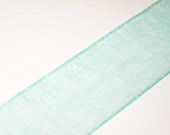 Mint Green Sheer Ribbon 4 Yards
