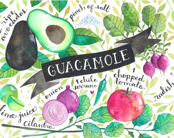 Guacamole 8x10 Print