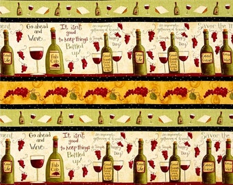 Go Ahead and Wine Stripe premium cotton fabric Designed by Dan DiPaolo for Clothworks
