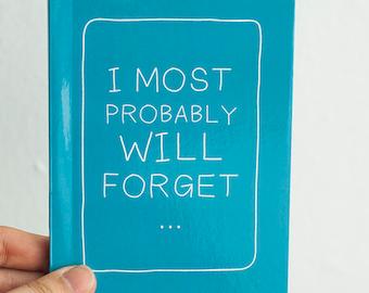 Pocket Sized Journal Booklet - BLUE Statement Notebook