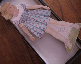 1950s Magic Mary Ann Magnetic Paper Doll with Wardrobe