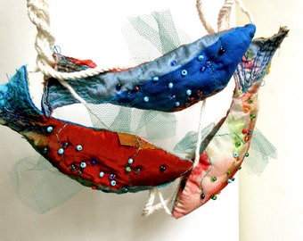 Maritime home decor with colorful fishes