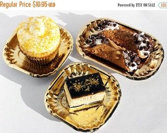 XOXO SALE 50 Gold Mini Dessert Plates, Gold Wedding Mini Dessert Plates, Gold Appetizer Plates, Gold Mini Pastry Plates, Cupcake Plates, Par