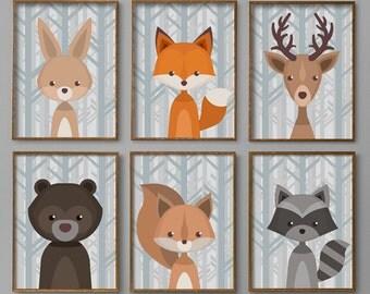 "Shop ""woodland nursery decor"" in Drawing & Illustration"