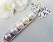 Christmas Sale Sweet Petite Peas In A Pod 2, 3,4 Or 5 Pearls Colors Of Purity - Pick And Mix Your Colors
