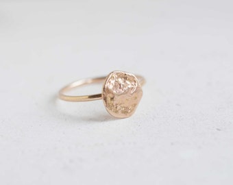 Reticulated Gold Ring | 14k Recycled Gold