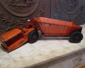 Vintage orange, 1953', 'STRUCTO' bottom dump dirt hauler!