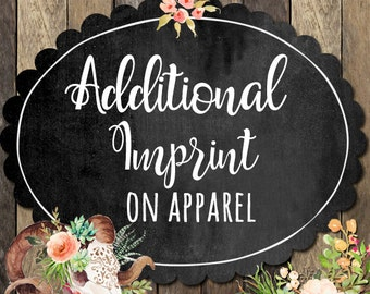 Embroidery Monogram - Add on