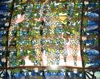 90's Metropolitan Museum of Art Silk Scarf ~ Louis C. Tiffany ~ View of Oyster Bay
