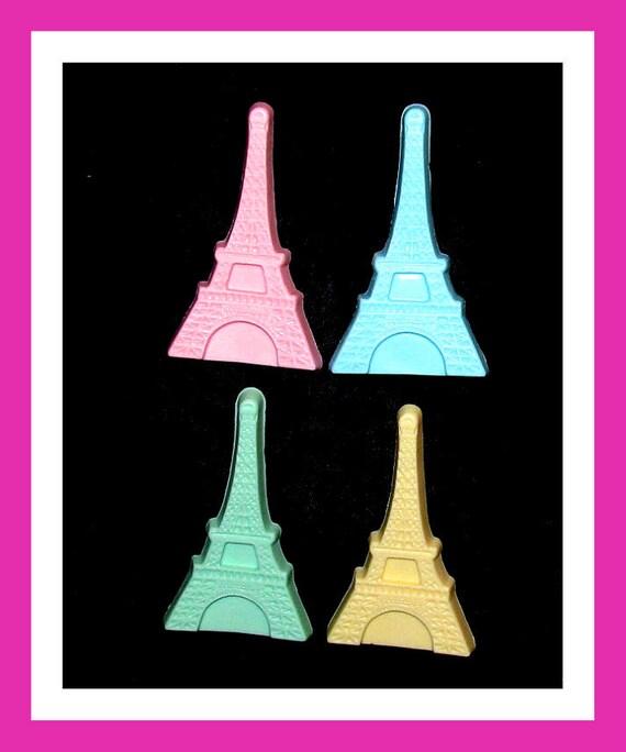24 Eiffel Tower Soap Favors,Bridal Engagement Favors,Wedding Favors,Personalized Button Pin,Soulmate Favors,Paris Theme,Party Favors,Love