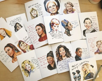 12 cards of your choice, portrait and Inspiring quote, 5x7 card, Ready to Ship