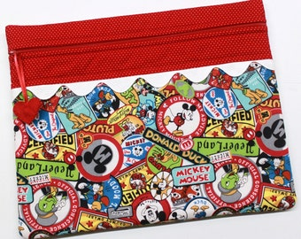 Mickey and Friends Patches Cross Stitch Embroidery Project Bag