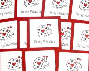 Valentines Classroom- Be My Valentine- Valentine Lady Bug- School Valentines Sets- Kids Valentines