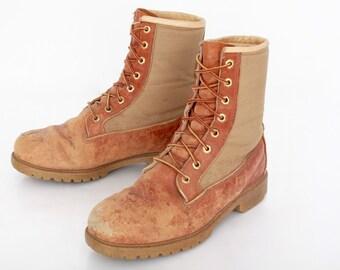 Vintage Combat Boots Desert Brown 9 1/2E