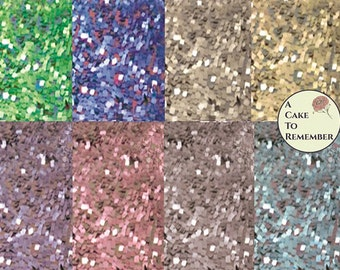 Glittery sequin downloadable digital file for printed wafer paper, printed scrapbook pages, wafer paper patterns for cake decorating.