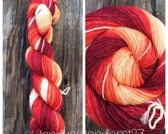Worsted Weight Yarn, Gradient Yarn, Hand dyed yarn, Yarn, Wool Yarn
