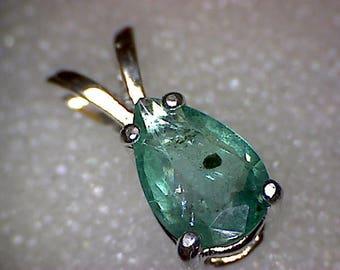 Beautiful Zambian Emerald Pear Pendant