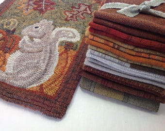 Wool Pack for Silvia Squirrel, WP213, Rug Hooking Wool