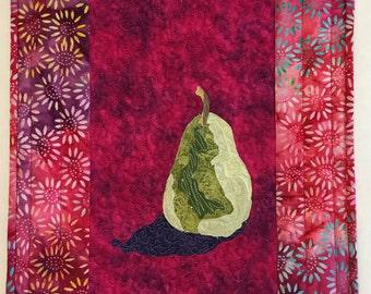 Handmade Art Quilt, Batik Fabrics, Fiber Arts, Contemporary Art, Gift for Her, Christmas Gift Idea, Christmas 2016, Wall Decor, Home Dec