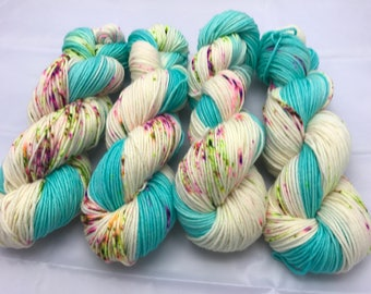 Trevor Morgan DK, Hand Dyed Yarn, DK weight, Superwash Merino, Number 3, 8 ply, Hand dyed, Light Worsted, 100g, Haute Knit, is this love?