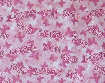 Pink God Loves You Travel Baby Toddler Comfort Surgical Small Day Care Nap Pillow