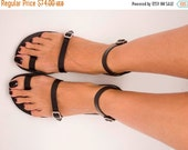 10% OFF Toe Ring Sandals, Leather Sandals, Simple Sandals, Strappy Sandals, Greek Sandals, Women Sandals, Handmade Sandals, Leather Shoes -